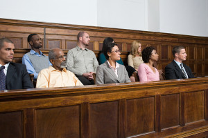 Jurors in the jury box